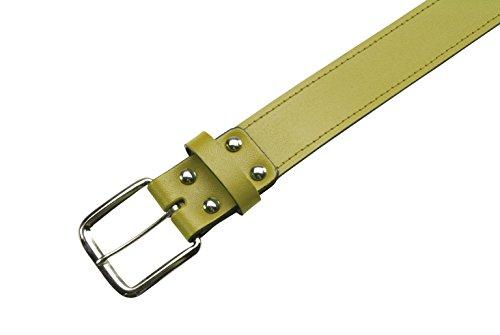 Athletic Spezialitäten Leder Baseball Gürtel 1–1/5,1cm–Gold–Medium (73,7–86,4cm) (Gold Athletic Belt)