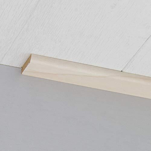 Abdeckleiste Abschlussleiste Sockelleiste Rundprofil aus MDF in Alaska Birke 2600 x 6 x 25 mm - Birke Parkett