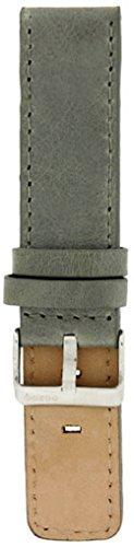 Oozoo Armband - Ersatzarmband für Oozoo Uhren etc. - 22 mm - Farbe : Grau