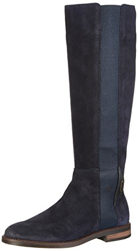 Marc O'Polo Damen Flat Heel Long Boot 70814228001304 Stiefel, Blau (Navy), 40 EU