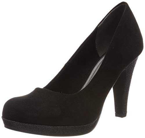 MARCO TOZZI Damen 2-2-22441-32 Plateaupumps, Schwarz (Black Comb 098), 37 EU Black Party Pumps