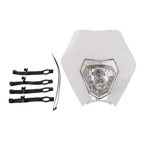 perfk Fari Anteriori Per Moto LED Fanale Lampada Per KTM SMR EXC SX 2013-2015 - bianca