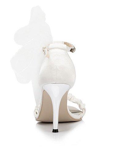 WSS 2016 Chaussures de mariage-Ivoire / Blanc-Mariage / Habillé / Soirée & Evénement-Bout Ouvert-Sandales-Homme 3in-3 3/4in-white
