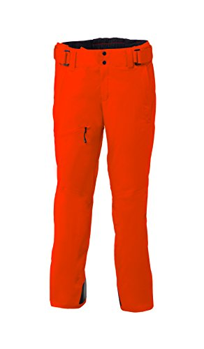 Phenix herren sterling partial zip salopette pantaloni da sci, orange, xs
