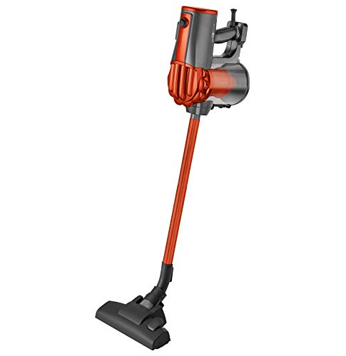 Clatronic BS 1306 de main/Aspirateur traîneau sans sac 2 en 1, Filtre Hepa, support mural, anthracite/orange
