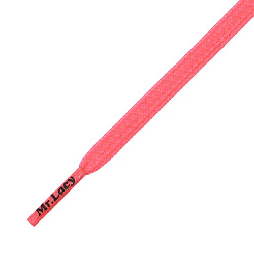 Mr Lacy Goalies Neon Pink Round Shoelaces)