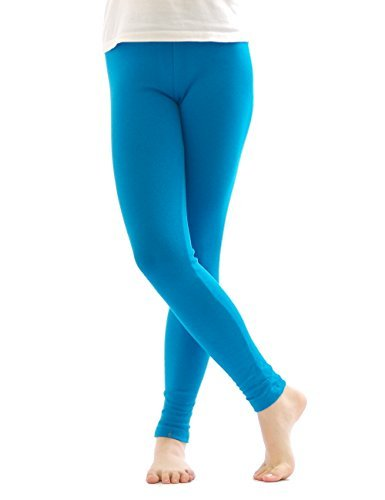 Thermo Leggings leggins Hose lang aus Baumwolle Fleece warm dick weich turkis XXXL