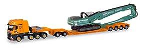 Herpa 310895 Mercedes-Benz Actros SLT - Tren de sillín pendular con Oruga Liebherr Riedel/Wilko Wagner en Miniatura para coleccionar y como Regalo, Multicolor