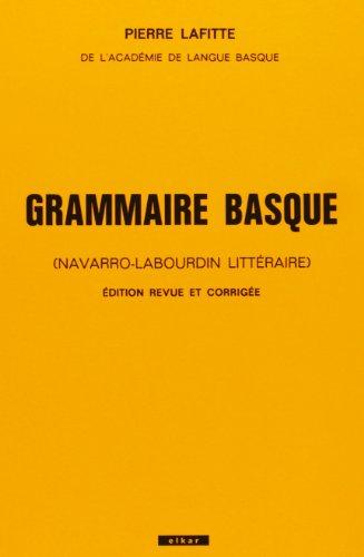 Grammaire basque par Lafitte