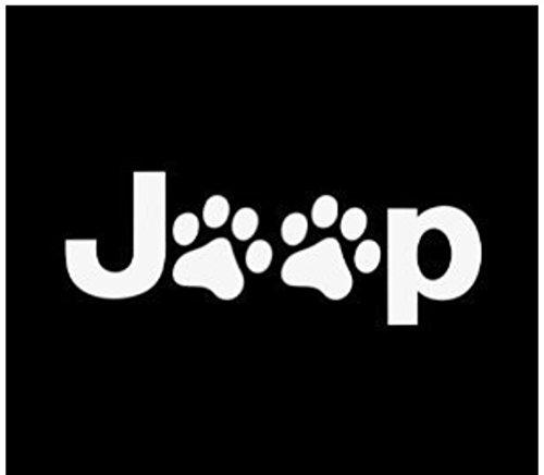 Jeep Wrangler, motivo zampe di cane e gatto per auto, decalcomania in vinile, 12,70 (5 cm di larghezza