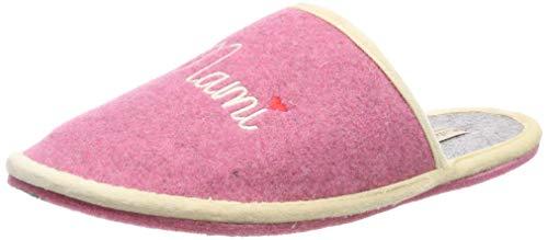 Adelheid Damen Mami Filzpantoffel Pantoffeln, Pink (Rosa 610), 36/37 EU