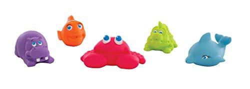 Playgro Spritztier-Set, 5 Stück, Mit bunten Unterwassertieren, BPA-frei, Ab 6 Monaten, Bunt, 40147 -