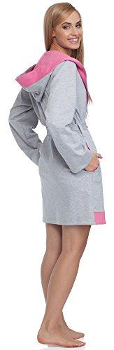 Merry Style Femme Robe de Chambre DG101 Melange/Rose