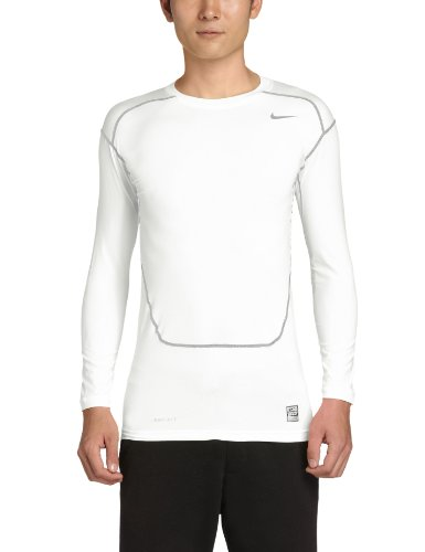 NIKE Herren Kompressions Shirt Core Compression NFS Kompressionsshirt, White/Cool Grey, XL -