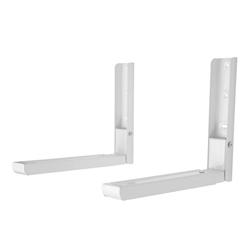 Universal Soportes de microondas con Brazos Extensibles, Soporte de Montaje Apto para Todos los microondas Blanco