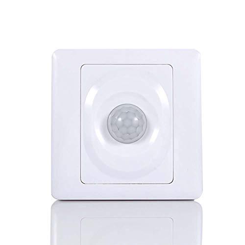 PIR Schalter, Bewegungsmelder Schalter, Bewegungssensor Automatischer Lichtschalter Tageslichtsensor mit Unterputz PIR-Bewegungsmelder Infrarot Induktions und Akustik-Sensor Bewegungssensor