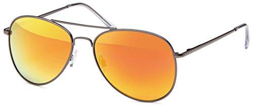 Pilotenbrille Sonnenbrille 70er Jahre Herren & Damen Sunglasses Fliegerbrille verspiegelt ()