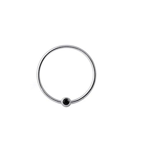Schwarzenstein Crystal Ball 20 Gauge 925 Sterling Silber BCR Captive Bead Nase Ring Piercing