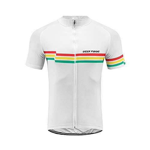 Uglyfrog Fahrradtrikot Kurzarm Radtrikot Männer Fahrrad-Club Cycling Team Bekleidung Pro-T/Jersey/Reißverschluss/Atmungsaktiv/Schnelltrocknend/Triathlon -