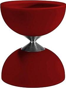 Eureka 515734 Acrobat 105 - Diábolo de Goma, Color Rojo
