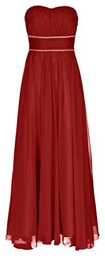 Juju&Christine Abendkleid Ballkleid Festkleid Hochzeitskleid Chiffon Rot 1512 (44)