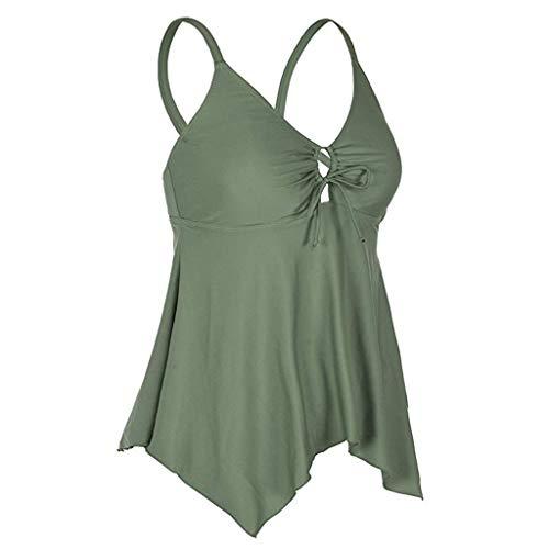Frauen Bikini gepolsterte Push-Up-BH Bandage Badeanzug Beachwear Bademode Baden Einteiliger Badeanzug mit dünnem Schulterriemen und frischem Wind-Leopardenmuster für Damen swimsuit swimanzug swimwear -