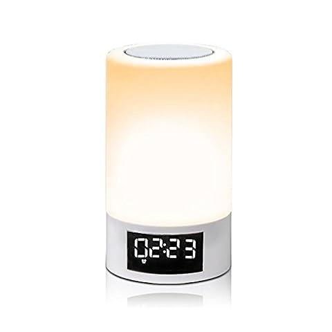 LED Bedside Wecker Bluetooth Lautsprecher, Bunte Steigung, Touch, Fm Radio