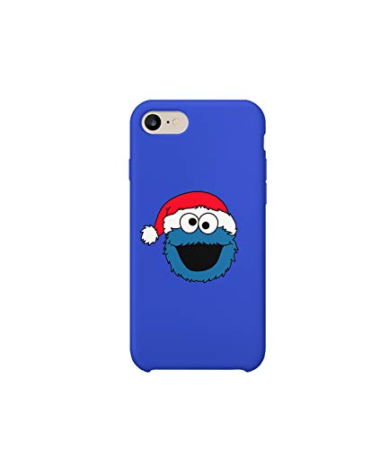 reet Cookie Monster Blue Christmas Hat Face_A1122 Handyhulle Handyhülle Schutz Hülle Kompatibel mit Protective Case Cover for Samsung Galaxy S8 Gift Christmas ()