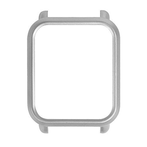 YBWZH Bunte PC-Hülle Schutzhülle für Xiaomi Huami Amazfit Bip Youth Watch(Silber)