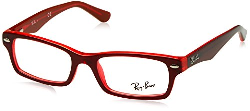 Ray-Ban Mädchen 0RY 1530 3664 48 Brillengestelle, Rot (Topo On Red Fluo)