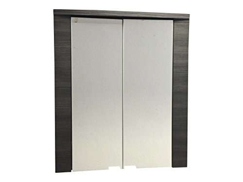 #trendteam XP50310 Bad Spiegelschrank  weiss, Esche grau, BxHxT  60 x 70 x 20 cm#