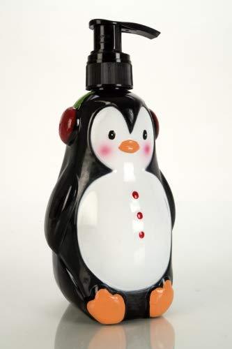 Accentra Seifenspender Pinguin mit Flüssigseife - Weihnachtliche Seife mit winterlichen Duft Sugar Frost - Weihnachts-deko für das Badezimmer - 320 ml Handseife