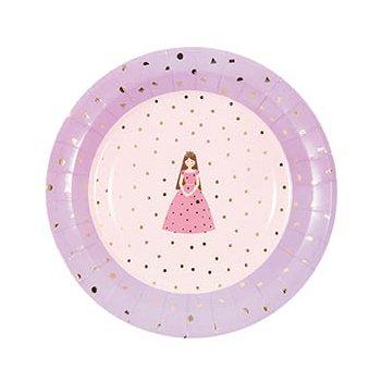 er | Pappteller zu Hochzeit, Weihnachten, Party oder Kindergeburtstag (Prinzessin) ()
