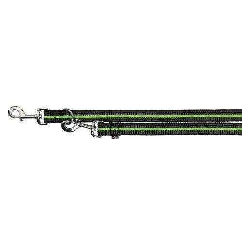 Trixie - Guinzaglio regolabile Fusion (L-XL) (Nero/Verde )