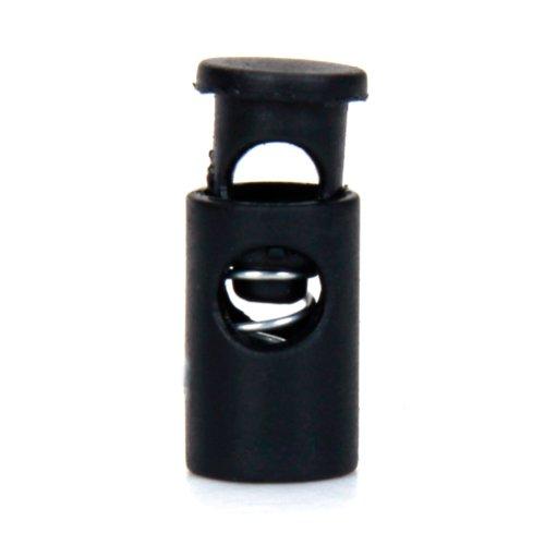 sodialr-100-pcs-barril-cerradura-de-la-cuerda-alterna-cordlock-color-negro