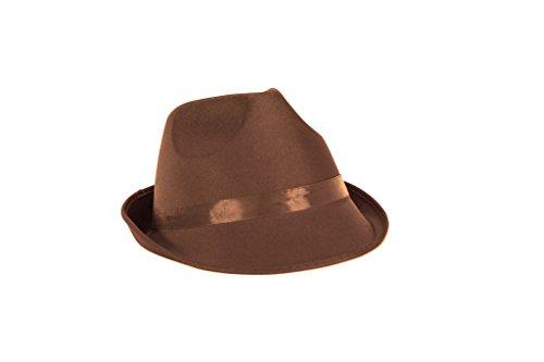 Braun Wonka Kostüm Willy - Ankleiden Party Kostüm FEDORA Hut (Brown)