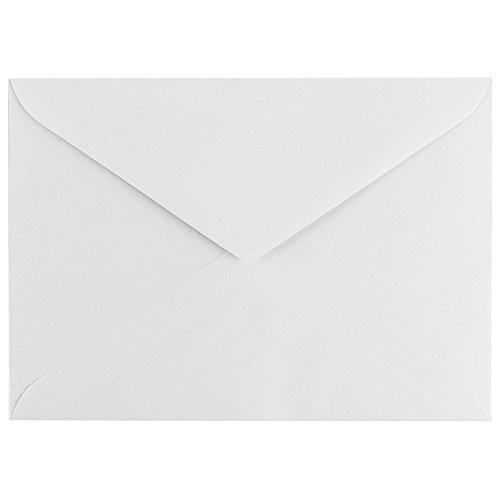 Umschläge, DIN B6, 12,5x17,6cm, weiß, gummiert, mit Spitzklappe, 100 Stück | hohe Qualität: 100 g/m² | Briefumschläge, Kuvert, Briefkuvert, Briefhülle für Grußkarten, Einladung, Geburtstagskarten