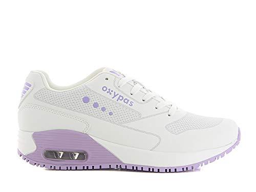 Oxypas Ela SCR, Sportschuhe, Arbeitsschuhe, Sneaker (ElaS3601lic),White with Lilac,36 EU