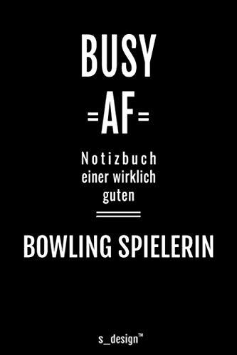 Notizbuch für Bowling Spieler / Bowling Spielerin: Originelle Geschenk-Idee [120 Seiten kariertes blanko Papier]