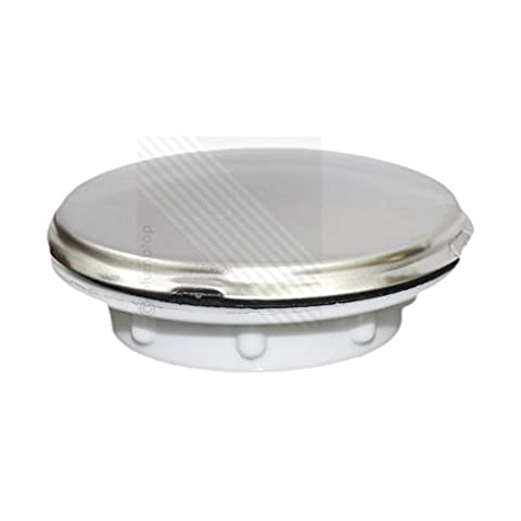 Kitchen Sink Tap Hole Blanking Plug | Screw on Round Disk Cover Plate Stopper in Satin Chrome by
