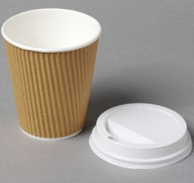 White 8oz Sip Lid for Kraft Ripple cup