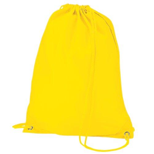 Imagen de quadra   saco o de cuerdas impermeable/resistente al agua modelo gymsac deporte/gimnasio 7 litros  talla única/amarillo