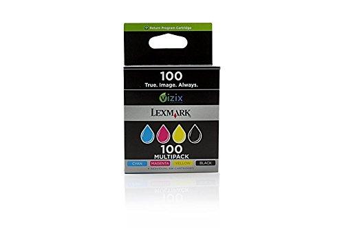 Preisvergleich Produktbild Original Tinte passend für Lexmark Intuition S 508 Lexmark NO 100 14N1912E - 4x Premium Drucker-Patrone - Schwarz, Cyan, Magenta, Gelb - 4x200 Seiten