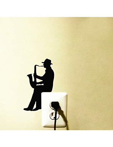 ZLJBB Saxophon Jazz Musik Vinyl Aufkleber Wandaufkleber Dekoration,
