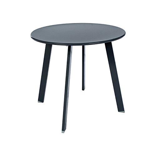 Table basse en acier - Utilisation extérieure et intérieure - Coloris GRIS Ardoise