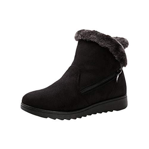 Stivaletti da donna stivali invernali da neve caldi scarpe zeppa platform warm lined casual pull on boots