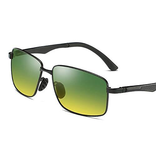 Gläser Herren Polarized Tag & Nacht Nachtfahrten Nachtangeln Nachtfahrten Sonnenbrille UV Cut Brille (Color : Schwarz, Size : Kostenlos)