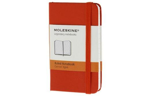 Moleskine farbiges Notizbuch (XS, Hardcover, blanko) rot
