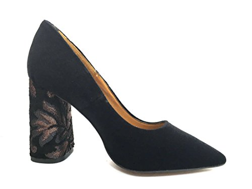 Na941 Nero Cafènoir Zapatos De Mujer Con Escote En Terciopelo Negro