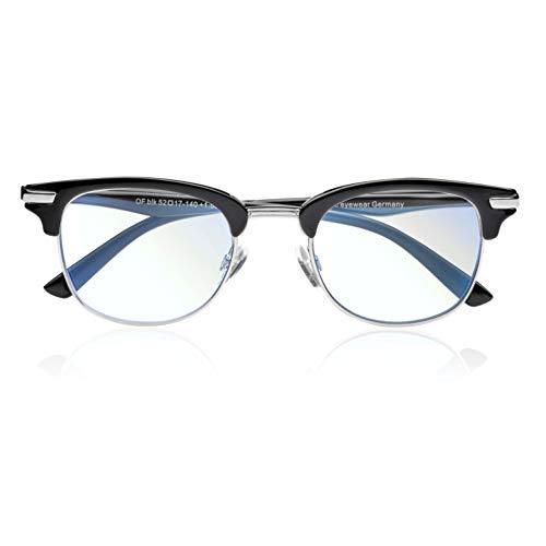 Nahbrille, Bürobrille, Computerbrille, Gleitsicht Bildschirmbrille, Blaulichtfilter, Raumbrille (+1,50dpt)